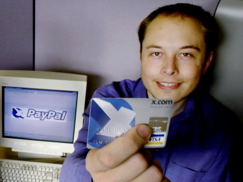 X.com merged with Confinity to form PayPal, Musk married his first wife