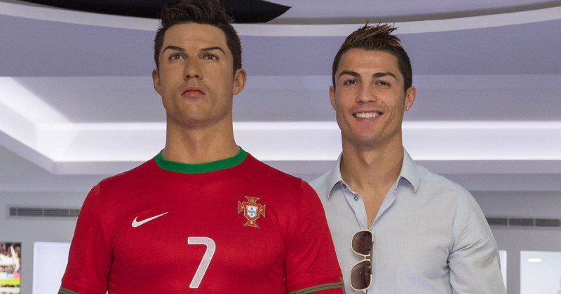 Ronaldo became the fourth footballer to be represented as a waxwork