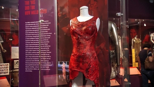 Her meat dress was displayed in National Museum