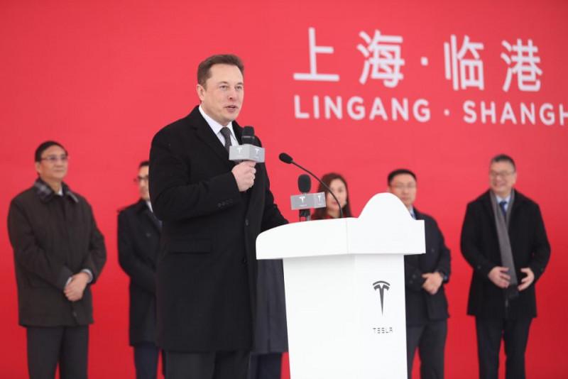Traveled to China for the groundbreaking of Tesla's Shanghai Gigafactory