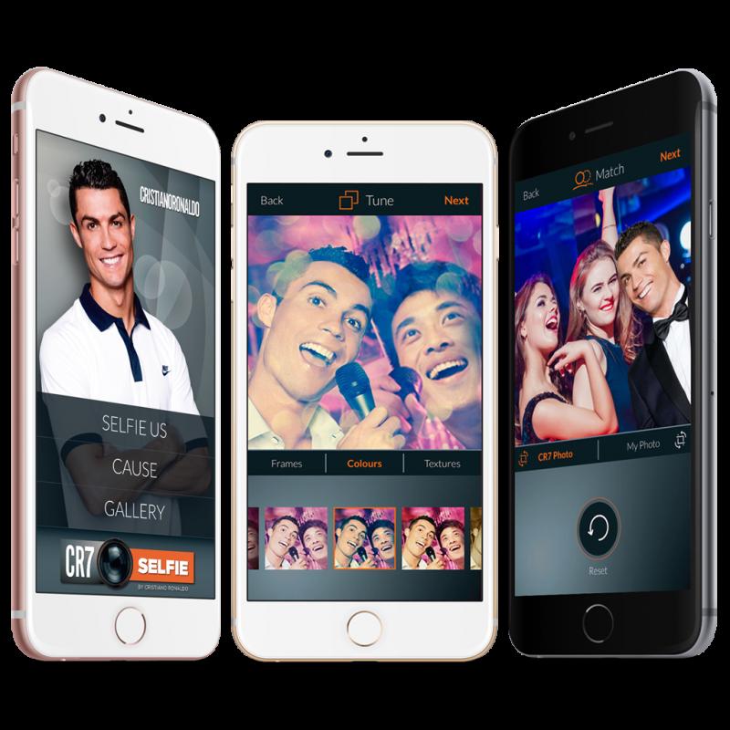 Launched a selfie app, CR7Selfie