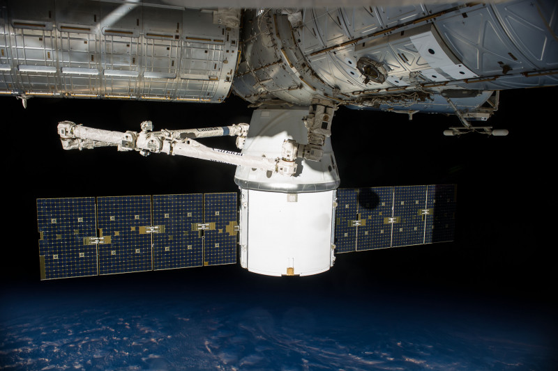 SpaceX's vehicle docked with ISS for the first time