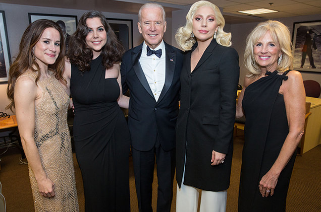 She joined Vice President Joe Biden to support Biden's It's On Us Campaign